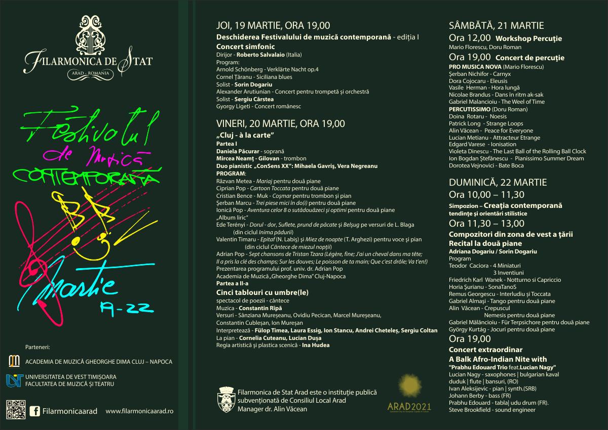 O provocare extraordinară, pentru public și organizatori, deopotrivă: ediția I a Festivalului de Muzică Contemporană