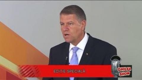 Klaus Iohannis invitat la Ghilea Show (2014)