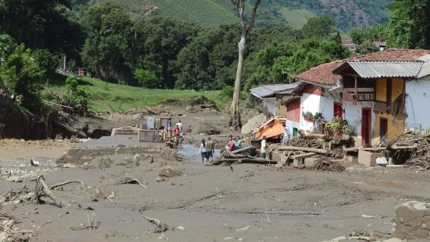 Cel puțin 61 de morți după o alunecare de teren în Columbia