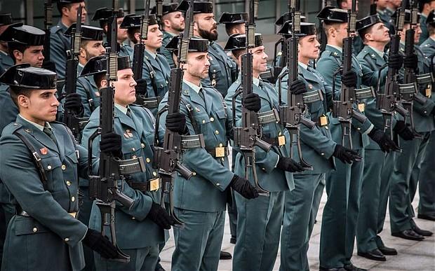 """Garda Civilă din Spania, considerată """"organizaţie teroristă"""" de Guvernul regiunii Ţara Bascilor"""