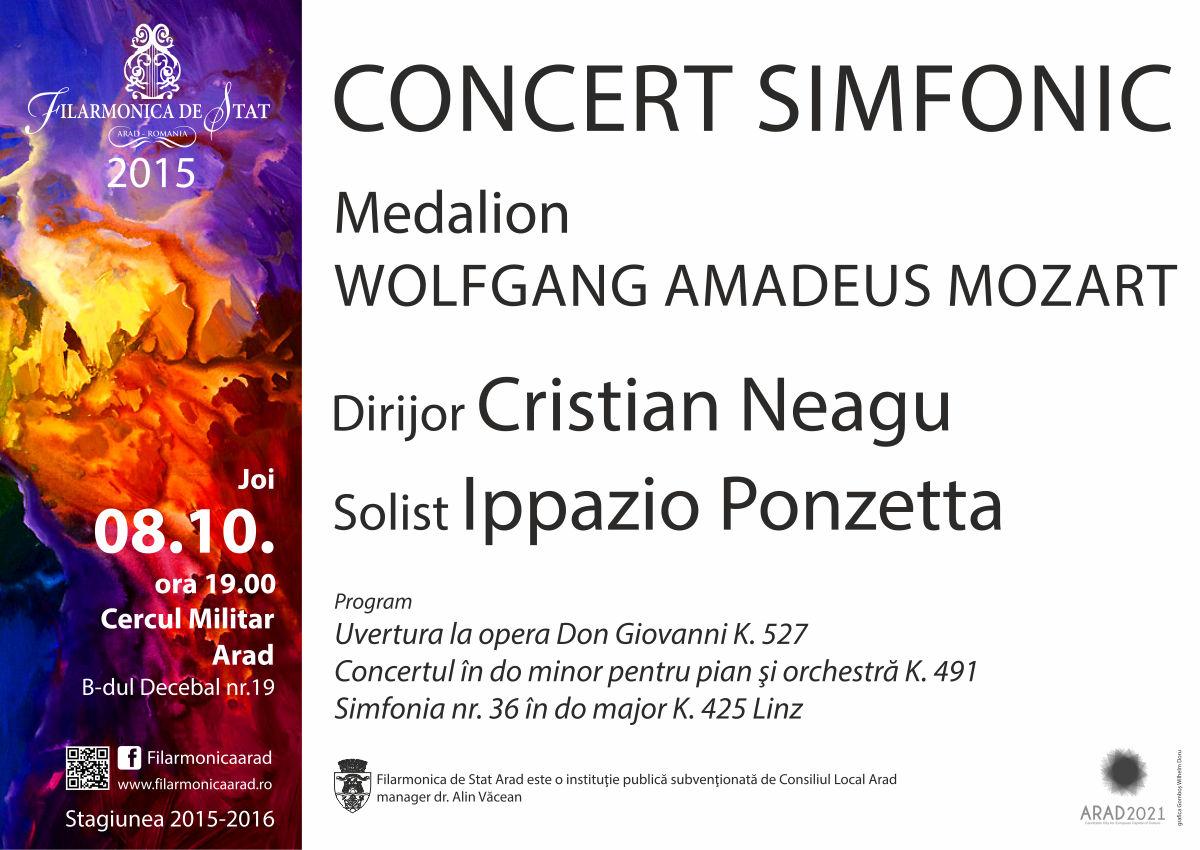 Joi seara - Medalion Wolfgang Amadeus Mozart