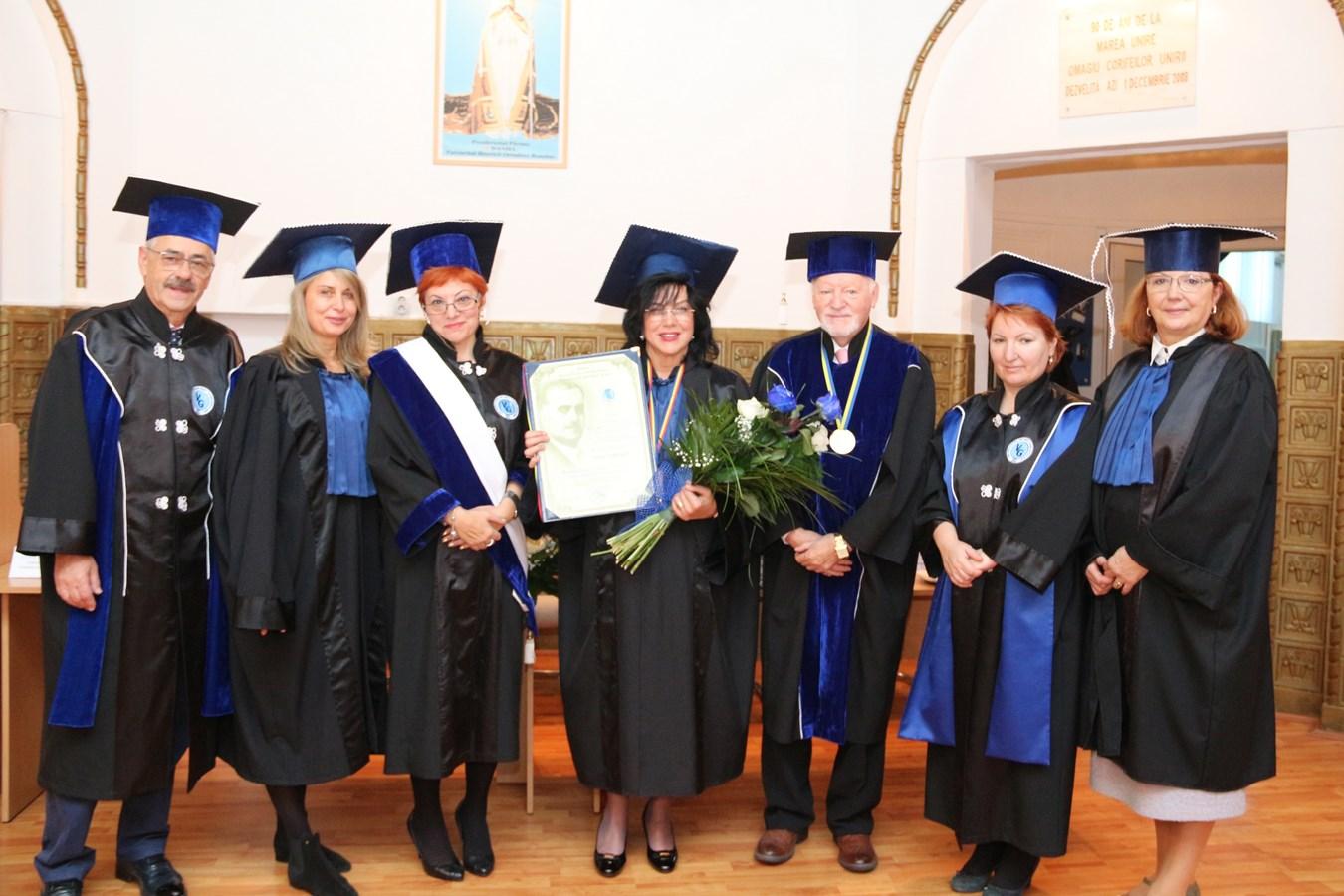 "Acad. Prof. univ. dr. Maria Dorobanțu, Doctor Honoris Causa, al Universității de Vest ""Vasile Goldiș"""