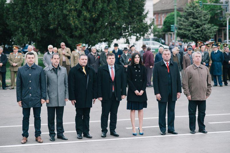 PNL Arad este singurul partid care nu a uitat să-i cinstească pe veteranii de război