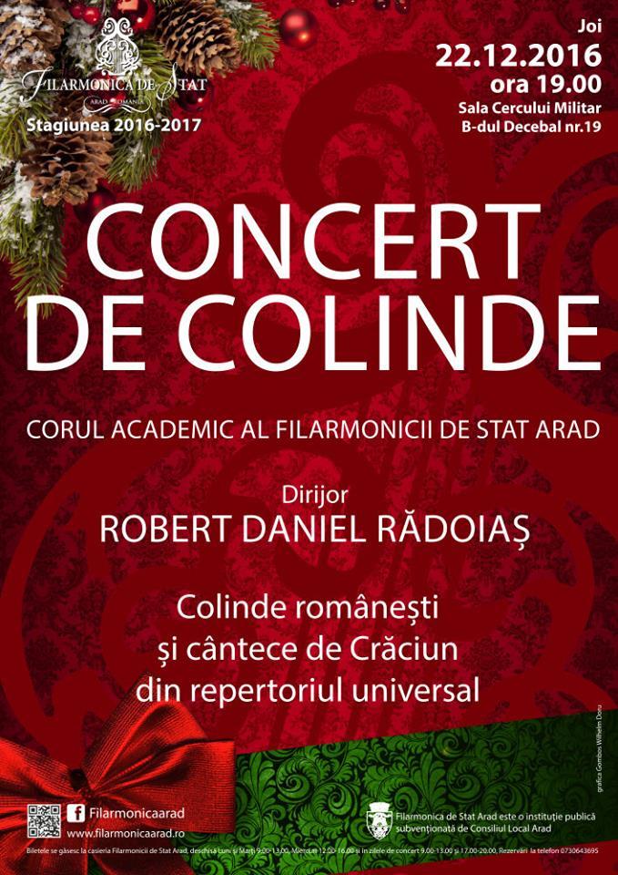 Filarmonica ar�dean� v� invit� la tradi�ionalul Concert de Colinde