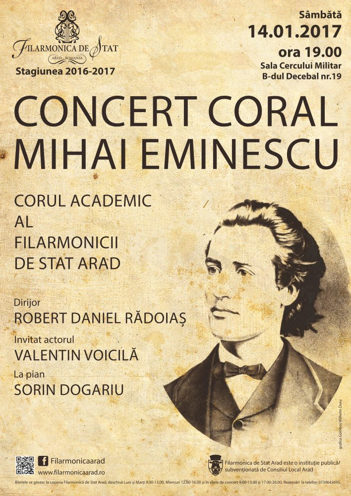 Concert coral �Mihai Eminescu� �i un recitator extraordinar � actorul Valentin Voicil�
